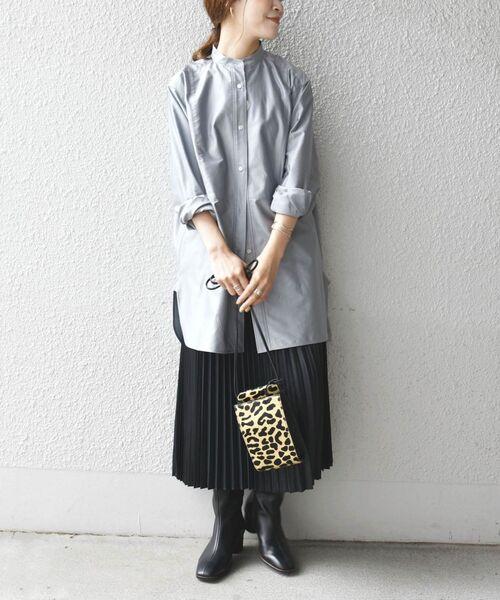 [SHIPS for women] カレンダリングプリーツスカート◇