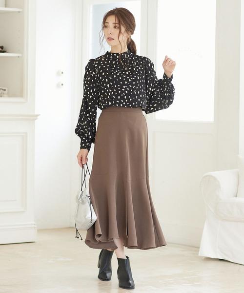 パネルマーメイドスカート