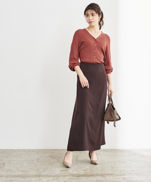 [ur's] サテンセミフレアスカート