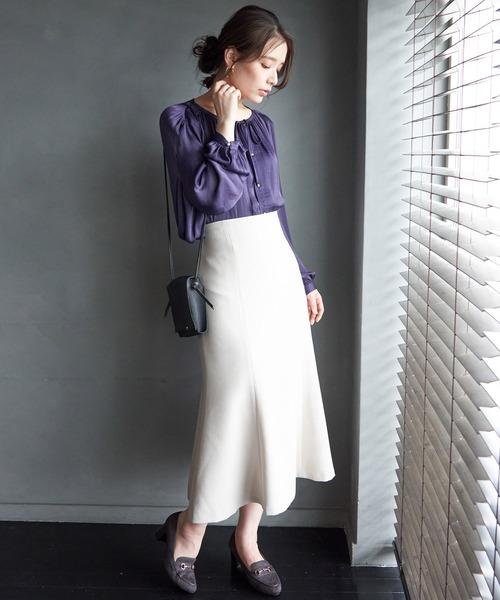 ストラップマーメイドスカート