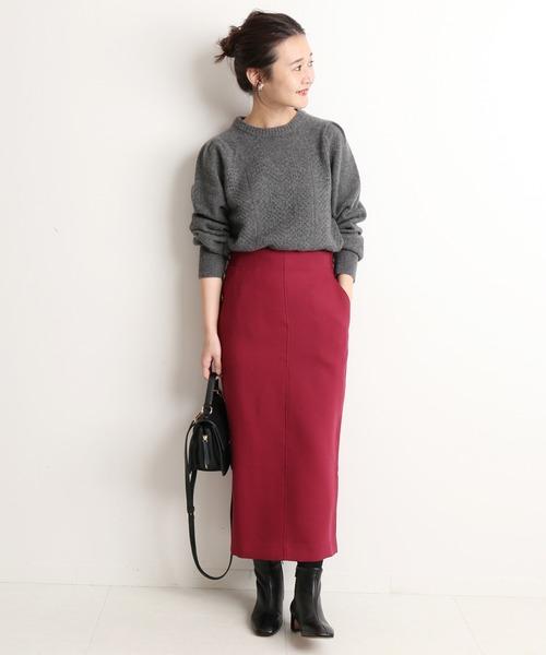 [IENA] ウォッシャブルツイルタイトスカート【手洗い可能】◆