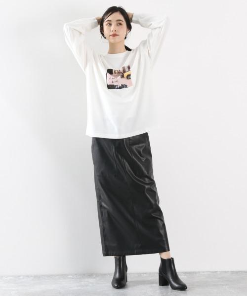 [LOWRYS FARM] ECOレザータイトスカート 893805