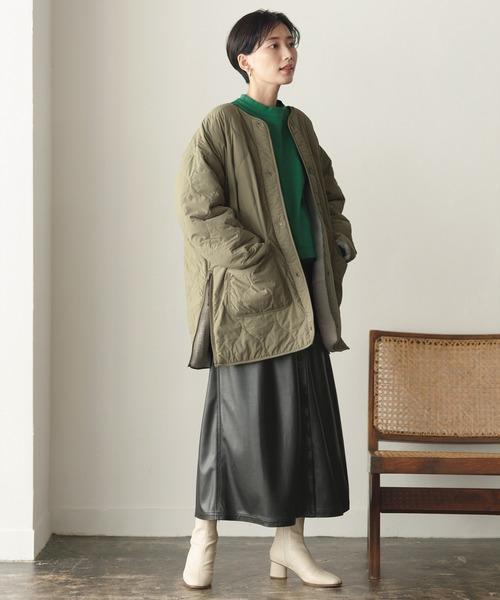 ショートヘアに似合う冬の服装|スカート4