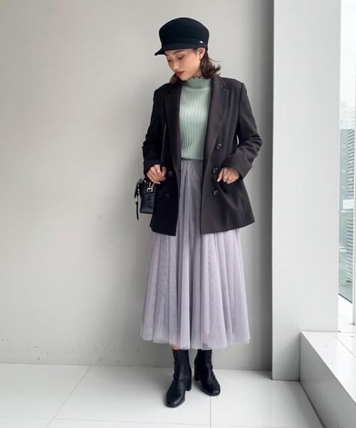 [AG by aquagirl] 【美人百花11月号掲載】ウルノチドリ柄ダブルジャケット11