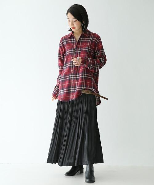 [osharewalker] 『n'Orチェック柄カジュアルシャツ』