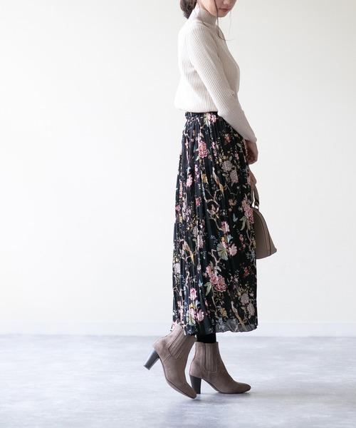 [Outletshoes] 8cmヒール ポインテッドトゥ サイドゴア ショートブーツ