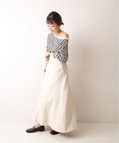 [Plage] Dry wool maxi スカート◆