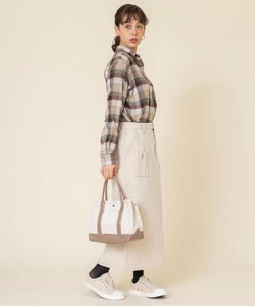 [coen] TEXASコットンフランネルチェックシャツ#1