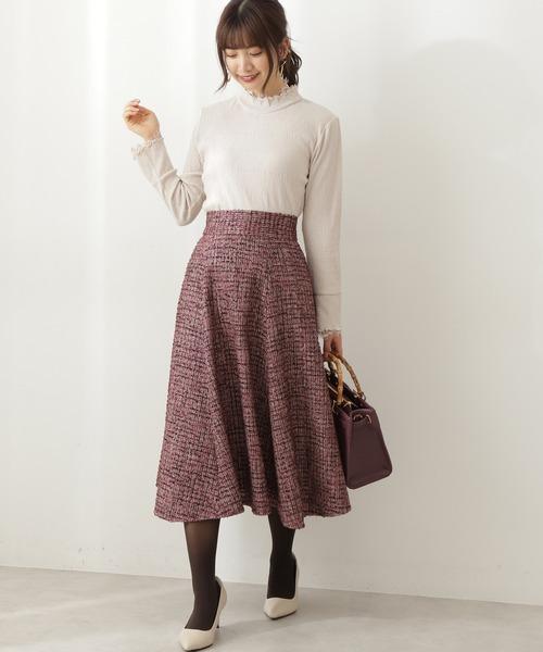 [PROPORTION BODY DRESSING] ツイードイレヘムフレアスカート