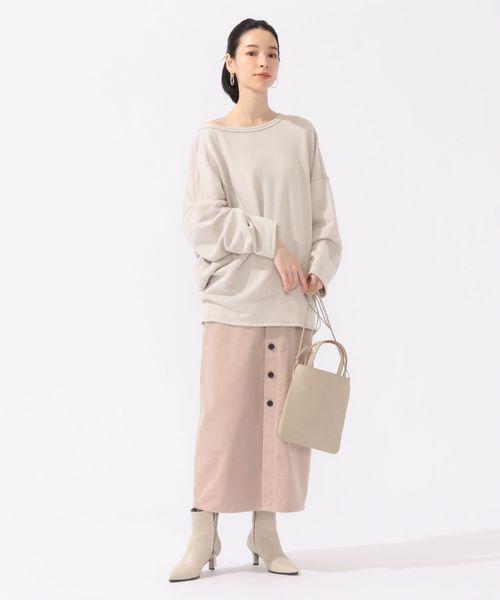 [SHIPS for women] コーデュロイフロントボタンスカート◆