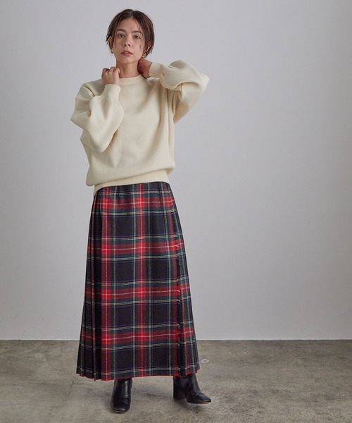 [ADAM ET ROPE'] 【O'NEIL of DUBLIN for SALON】【WEB限定】別注CHECK SKIRT