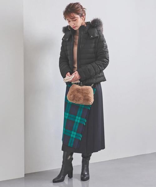 黒ダウン×キルティングスカートの冬コーデ