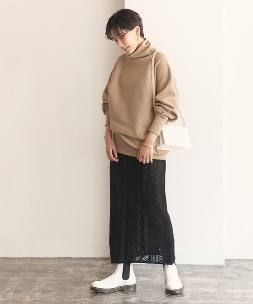 [ADAM ET ROPE'] MIXパターンニットスカート