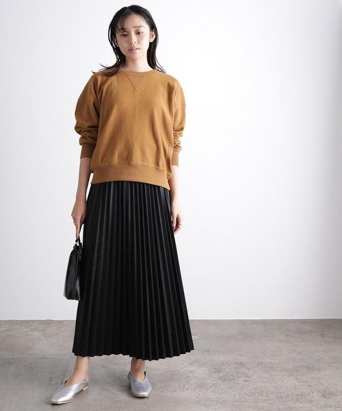 [ViS] 【WEB限定】エコレザープリーツスカート