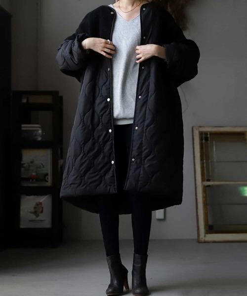 [antiqua] コート とにかく軽くて暖かい。トレンド感たっぷりシルエットとボリューム感