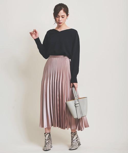 [The Virgnia] オリガミカラープリーツスカート