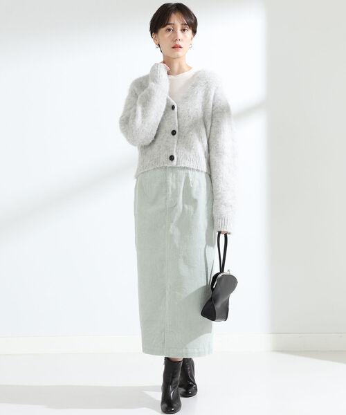 [BEAMS WOMEN] Ray BEAMS / コーデュロイ ロング タイト スカート