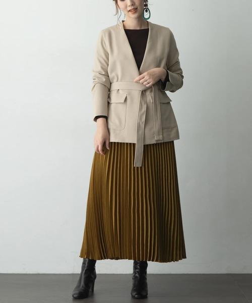 [URBAN RESEARCH ROSSO WOMEN] ノーカラーウエストマークジャケット