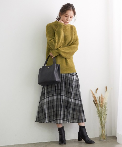 [ROPE' PICNIC] シアーチェックプリーツスカート 2