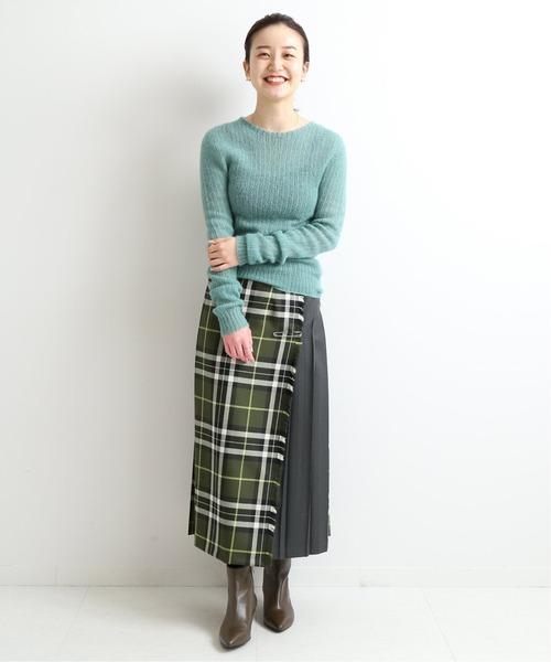 [IENA] 【O'neil of Dublin】コンビネーションクラシックキルトスカート◆