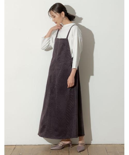 太コーデュロイジャンパースカート