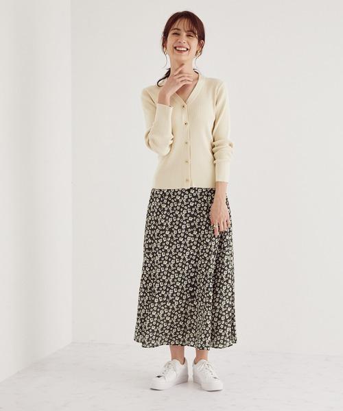 【WEB限定】【DEVEAUX】フラワープリントマーメードスカート