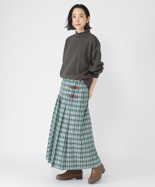 [studio CLIP] チェックキルトスカート