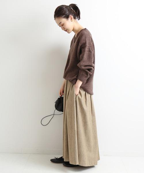 Sustina Tweed ロングスカート◆