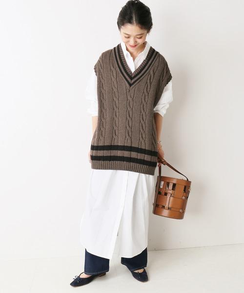 [IENA] 【Oldderby Knitwear】 ニットベスト◆