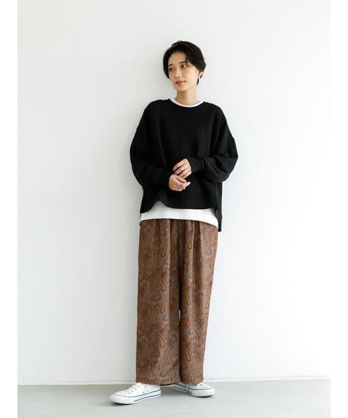 [koe] 【2020AW】ペイズリー柄パンツ