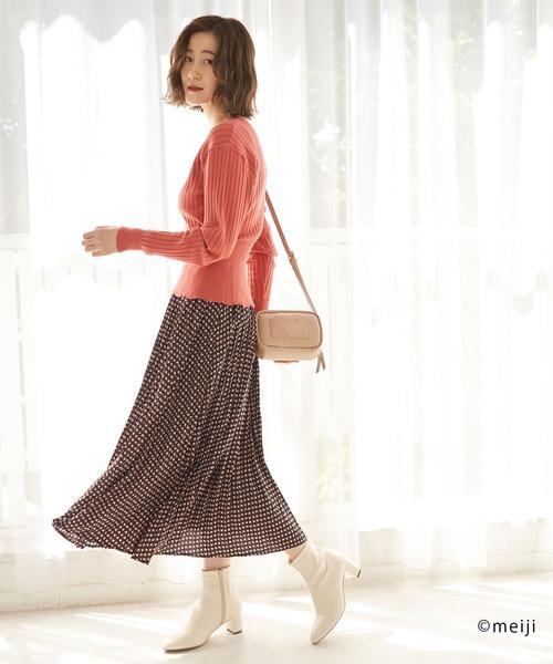 [ROPE' PICNIC] 【アポロ my style×ロペピクニック】プリーツスカート