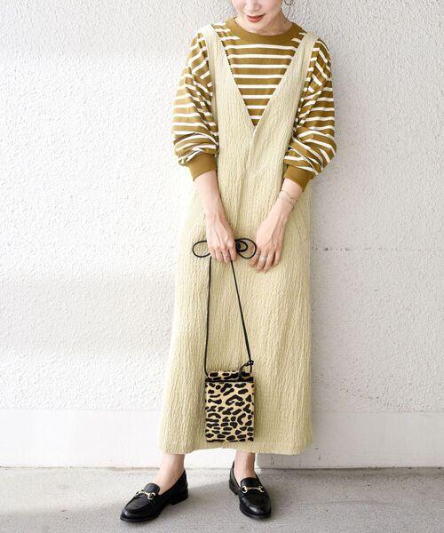 [SHIPS for women] 【WEB限定】シャーリングコーデュロイジャンパースカート◇