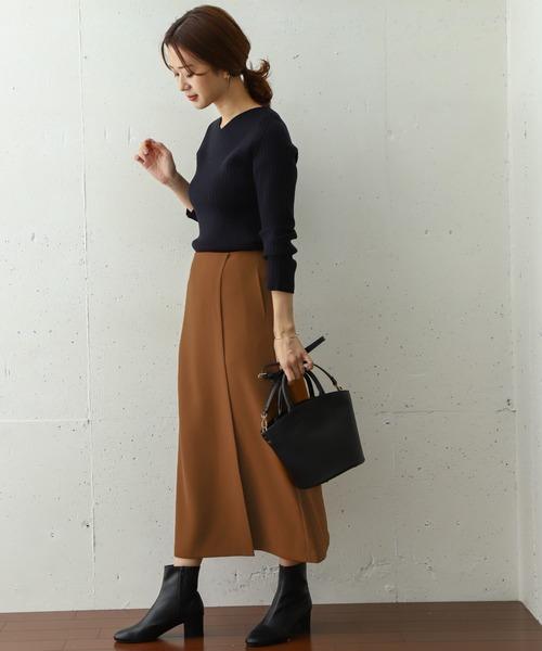 巻き風ストレートスカート