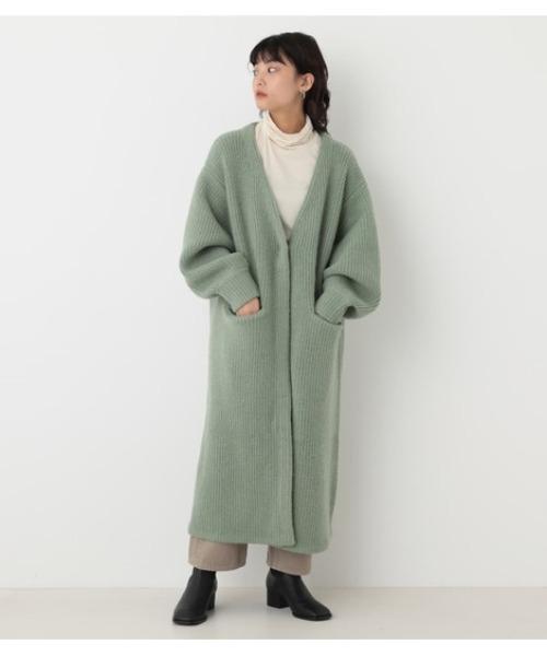 [BLACK BY MOUSSY] aze knit long cardigan(アゼニットロングカーディガン)