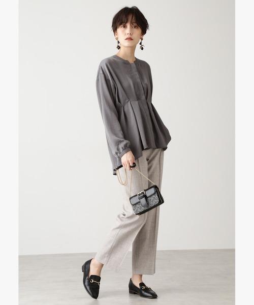 [N.(N. Natural Beauty Basic)] ◆ピンタックセンタープレステーパードパンツ