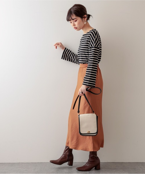 [natural couture] プチプラサテンマーメイドスカート