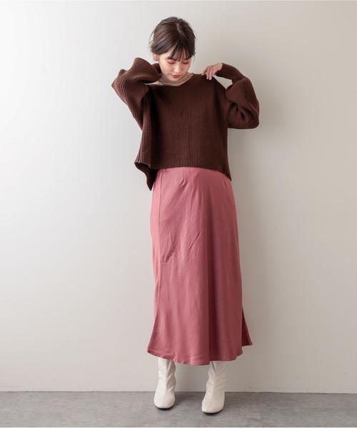 プチプラサテンマーメイドスカート