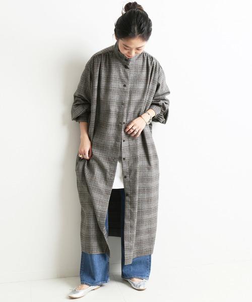 [IENA] サキソニーシャツドレス【手洗い可能】◆