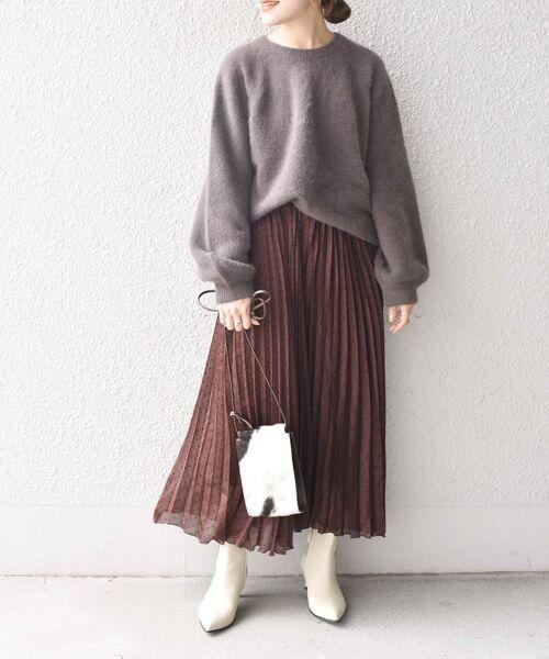 [SHIPS for women] 【WEB限定】フロッキードットプリーツスカート◇