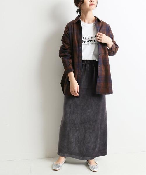 [IENA] ネルチェックシャツ【手洗い可能】◆