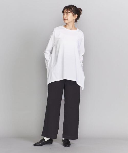 [BEAUTY&YOUTH UNITED ARROWS] BY コットン天竺バックテールロングスリーブカットソー о
