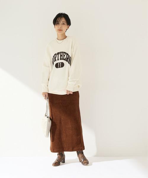 [JOINT WORKS] カットコーデュロイロングスカート
