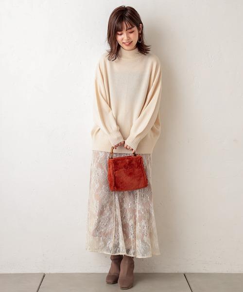 [natural couture] 杢調ほっこりカラーニット