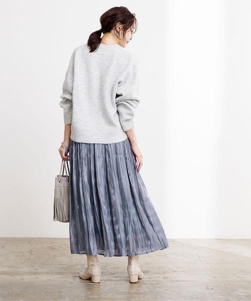 [ur's] サテン消しプリーツスカート