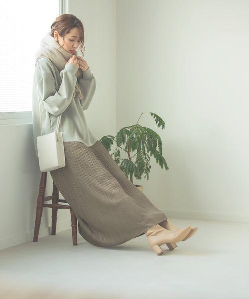 [GLOBAL WORK] ハンサム美人モックネックプルオーバー/918221