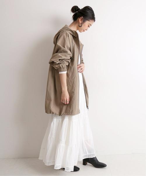 [IENA] コットンレーススカート【手洗い可能/ウエストゴム】◆