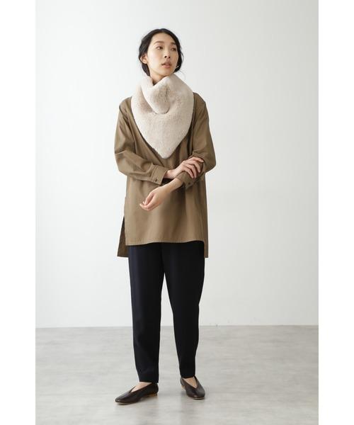 [HUMAN WOMAN] フーディライクスカーフ