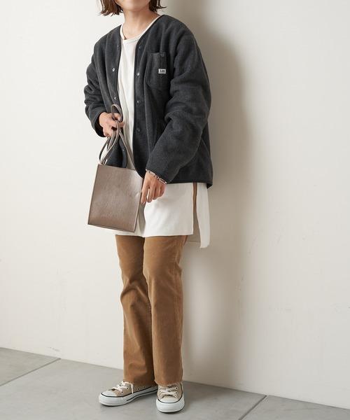 [CIAOPANIC TYPY] 【Lee×CIAOPANIC TYPY】ノーカラーフリースジャケット