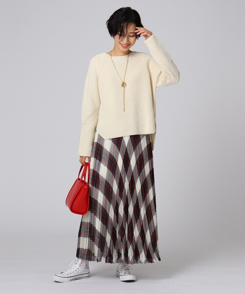 [UNTITLED] ボイルチェックプリーツスカート