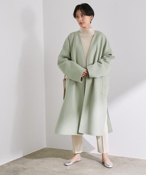 ショートヘアに似合う冬の服装|パンツ2